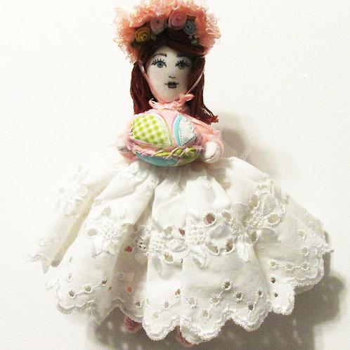 Shabby Chic Easter Doll, Handmade Doll