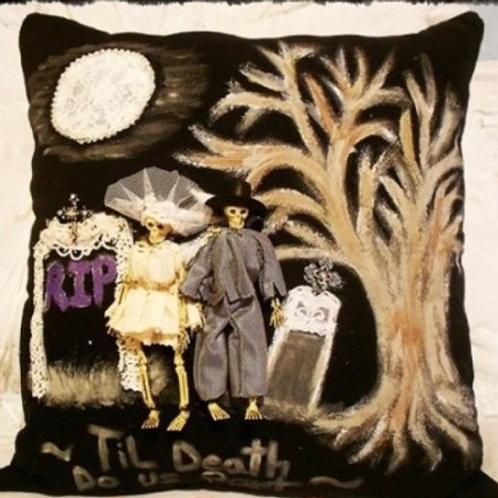 Halloween Til Death Do Us Part Pillow