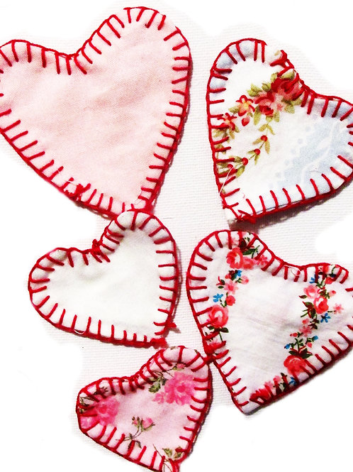 Heart Patches-Sew On