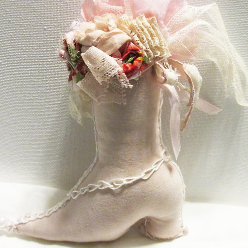 Shabby Chic Christmas Boot Ornament-Victorian Boot Ornament