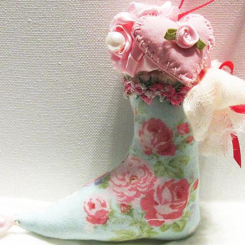 Shabby Chic Elf Boot Ornament-Christmas Ornament