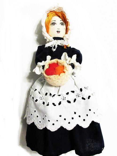 Thanksgiving Pilgrim Doll Ornament