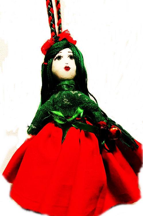 Christmas Doll Handmade Ornament