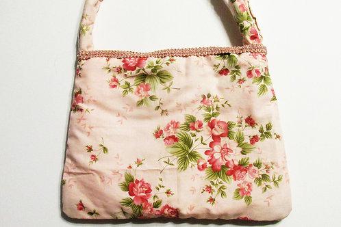 Shabby Chic Floral Purse, Pink Floral Handbag