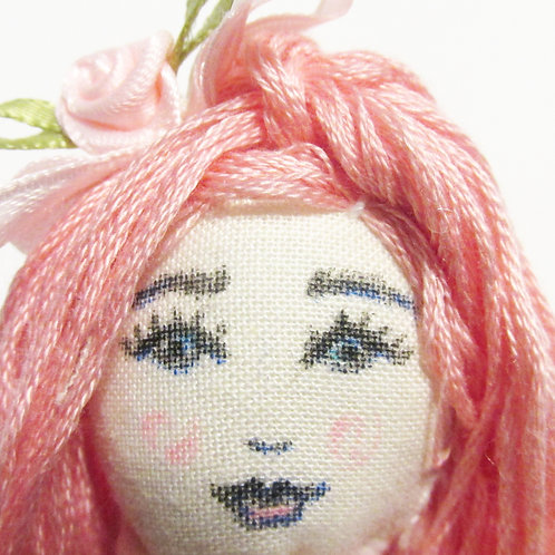 Shabby Chic Doll-Pink Doll
