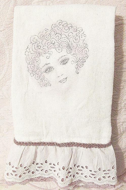 Pretty Girl Flour Sack Towel~