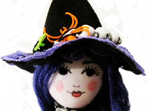 Handmade Witch Doll, Halloween Witch, Cute Witch