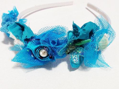 Shabby Chic Turquoise Headband