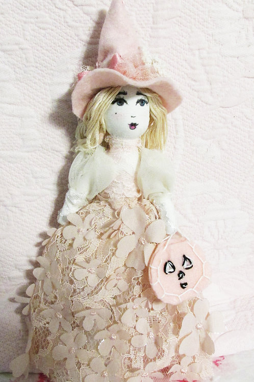 Shabby Chic Pink Witch Doll-Sabrina