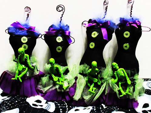 Handmade Halloween Dress Ornaments