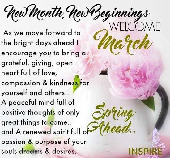 Hello March~