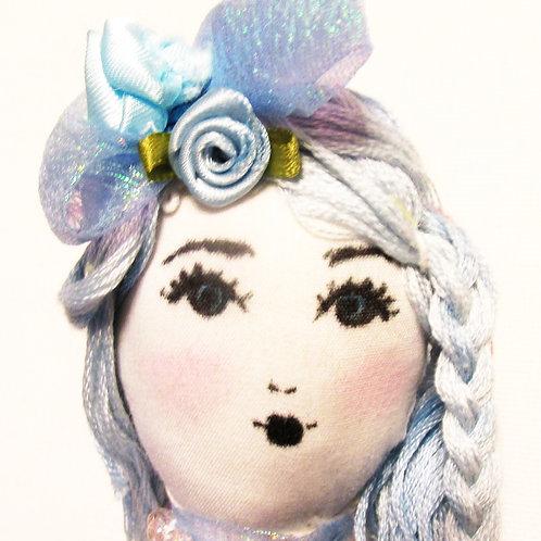 Shabby Chic Doll-Bella Blue, Handmade Doll