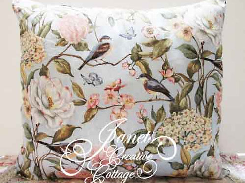 Shabby Chic Pillow-Birds Of Spring