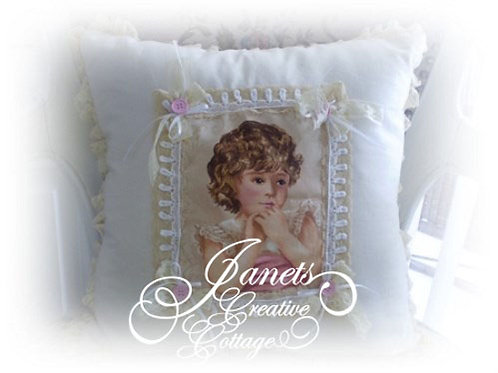 Shabby Chic Victorian Pillow