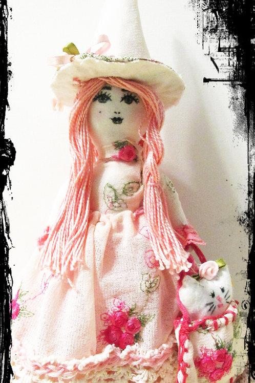 Shabby Chic Halloween Doll-Glenda the Good Witch