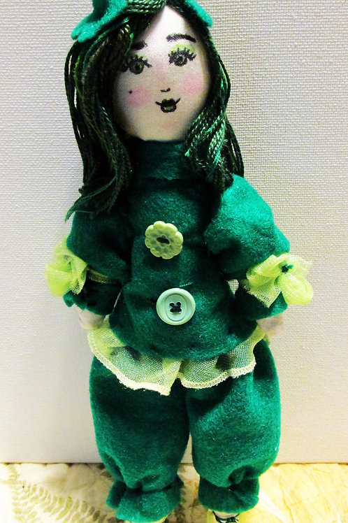 St. Patrick's Day Doll, Shabby Chic Dolls, Irish Lass