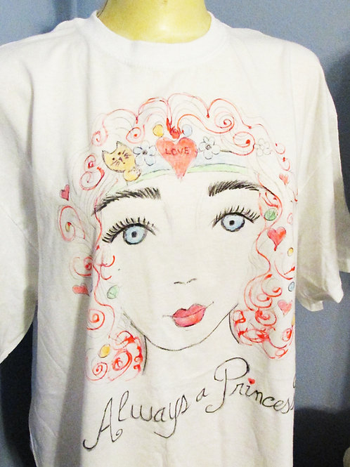 Shabby Chic T-Shirt, White T-shirt, Art T-Shirt