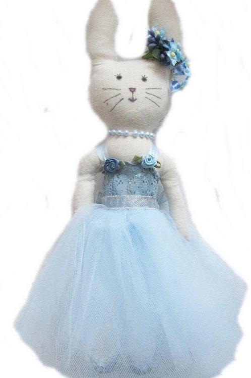 Easter Bunny Blue Ballerina