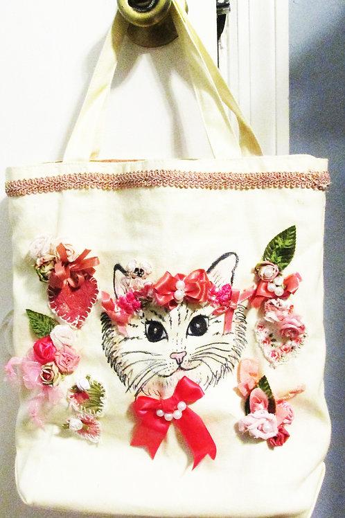 Shabby Cat Tote Bag