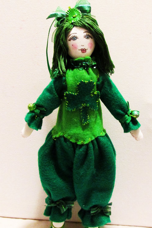 St. Patrick's Day Doll, Green Hair Doll