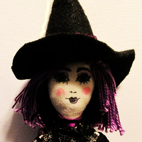 Handmade Halloween Doll-Wendy Witch, Witch Doll