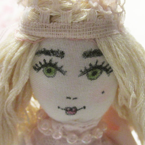 Shabby Chic Doll, Victorian Princess Doll, Handmade Doll