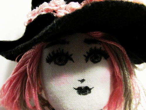 Shabby Chic Witch Doll, Handmade Doll, Hilda The Witch
