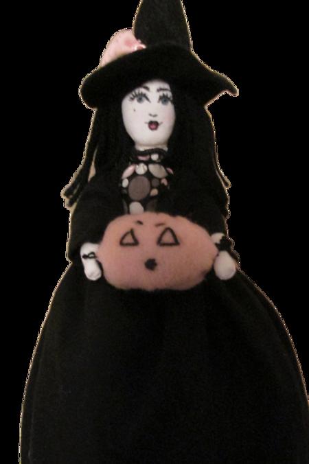 Halloween Witch Doll, Spooky Sybil, Handmade Doll