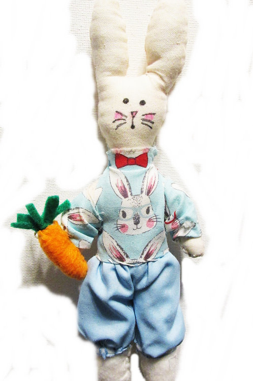 Shabby Chic Bunny Doll, Rabbit Doll, Handmade Bunny Doll