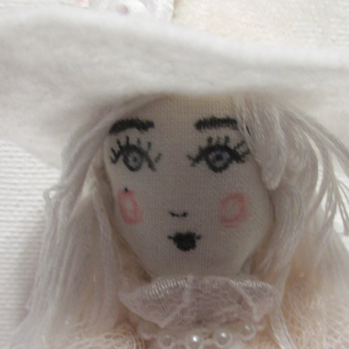 Halloween Witch Doll-White as a Ghost Wanda