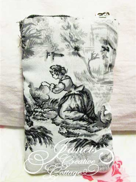 French Toile Cell Phone Cover