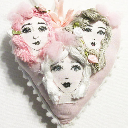 Shabby Chic Heart, Valentine's Day Heart, Pretty Girls