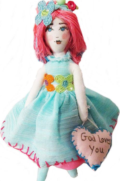 Shabby Chic Doll, Handmade Doll, Cute Doll, Religious Doll