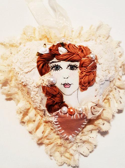 Shabby Chic Marie Antoinette Heart