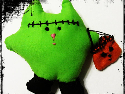 Franken Puffie Cat- Frankenstein Cat