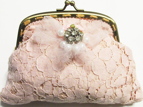 Shabby Chic Pink Coin Purse