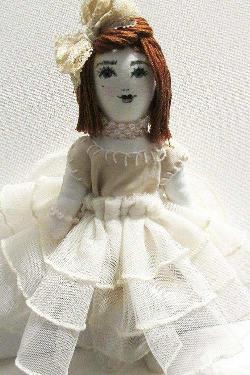 Shabby Chic Doll, Handmade Doll, Cute Doll