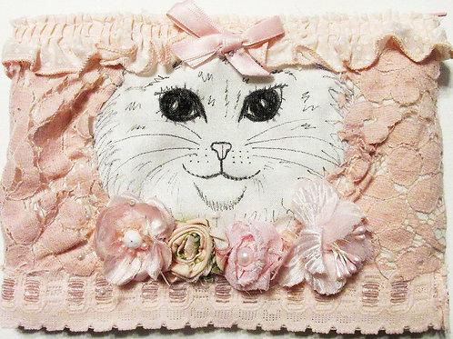Shabby Chic Peekaboo Cat Pouch