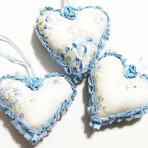Shabby Chic Heart Ornaments
