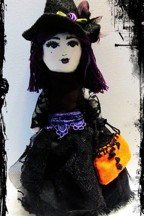 Halloween Witch Doll-Winona-Handmade Witch Doll