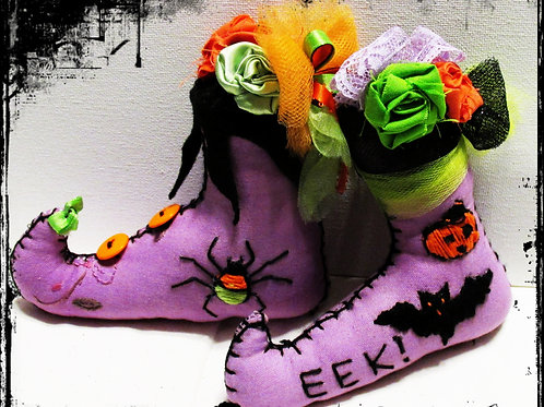 Halloween Ornaments, Witch Boot Decorations