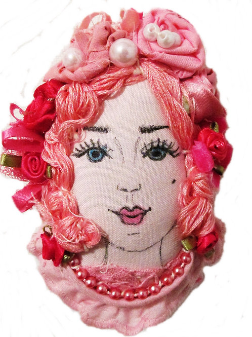 Shabby Chic Victorian Easter Egg-Bella Pink