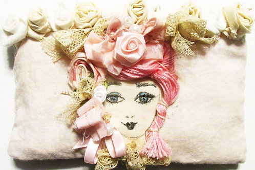 Shabby Chic Pouch-Marie Antoinette in Pink