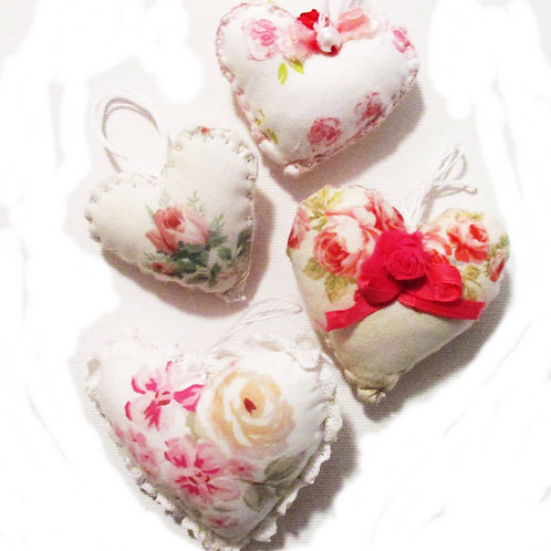Heart Ornaments-Set of 4