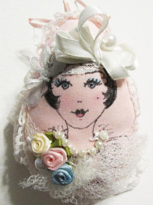 Shabby Chic Easter Egg, Handmade Fabric Egg