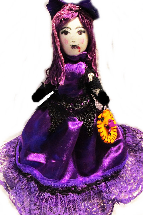 Halloween Purple Vampire Doll-