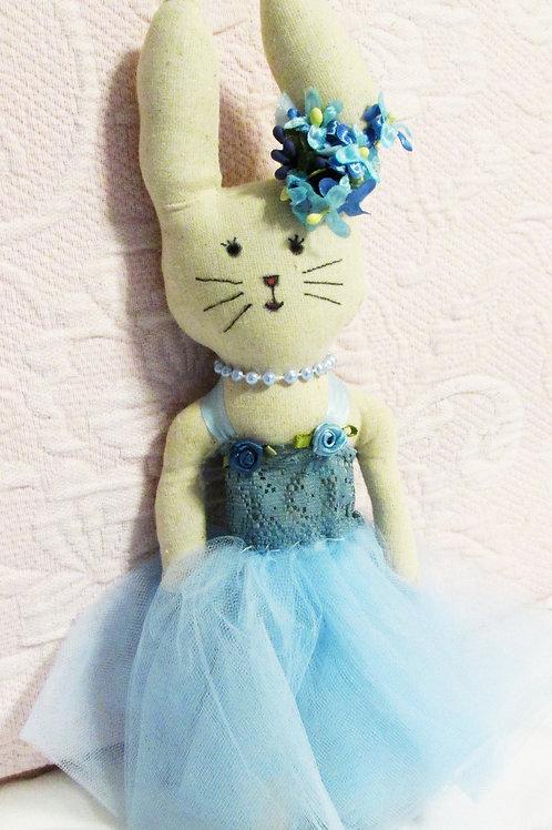 Handmade Fabric Bunnies-Ballerina Bunnies