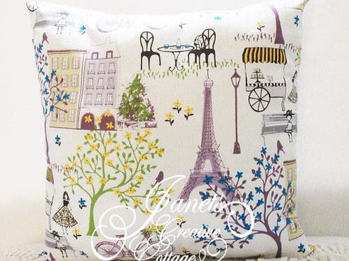 Shabby Chic Paris Theme Pillow