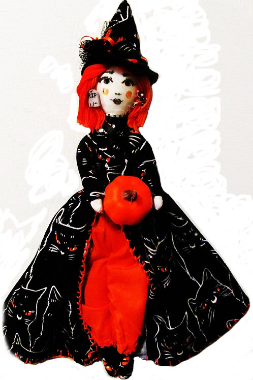 Shabby Chic Halloween Witch Doll- Scary Susie
