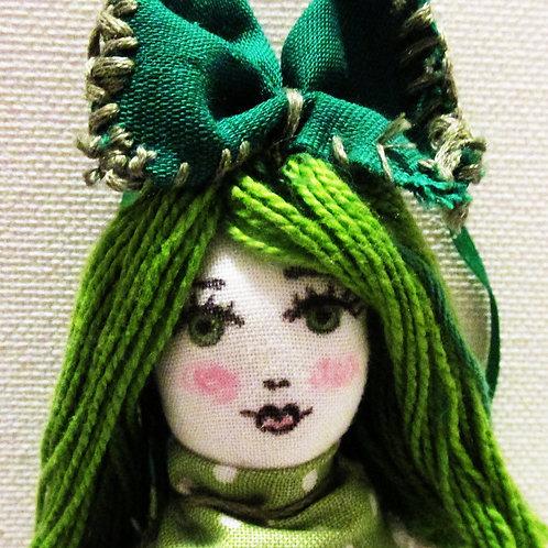 St. Patrick's Day Polka Dot Doll
